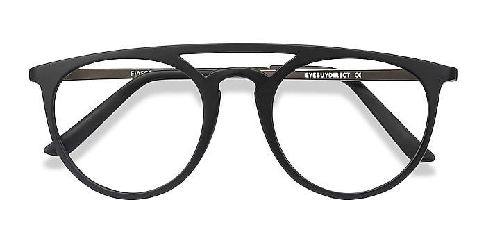 Matte Black Fiasco -  Lightweight Plastic Eyeglasses