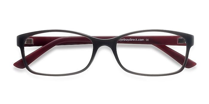 Matte Gray Beads -  Lightweight Plastic Eyeglasses