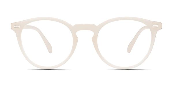Peninsula Matte White Plastic Eyeglass Frames