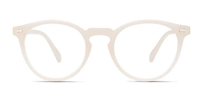 Peninsula Matte White Plastic Eyeglass Frames from EyeBuyDirect