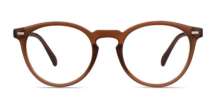 Peninsula Matte Redwood Plastic Eyeglass Frames from EyeBuyDirect