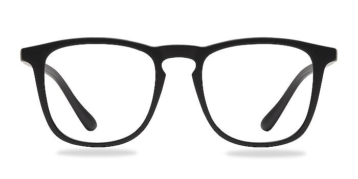 Central Matte Black Plastic Eyeglass Frames from EyeBuyDirect