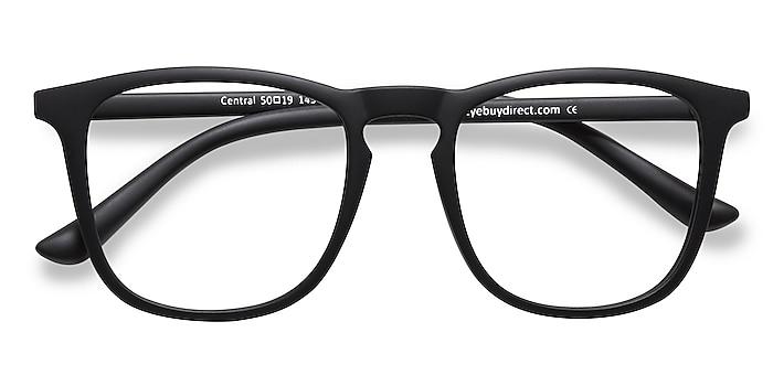 Matte Black Central -  Fashion Plastic Eyeglasses