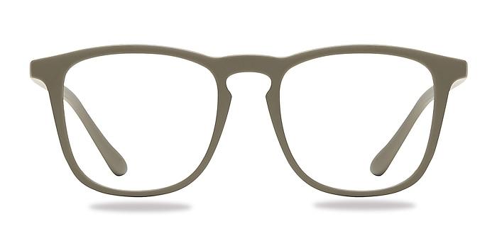 Central  Matte Green  Plastic Eyeglass Frames from EyeBuyDirect