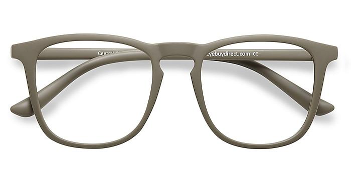 Matte Green  Central -  Lightweight Plastic Eyeglasses