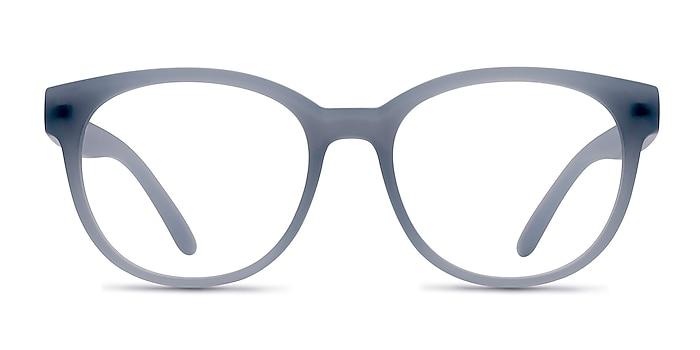 Grace Matte Blue Plastic Eyeglass Frames from EyeBuyDirect