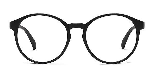 Delaware Matte Black Plastic Eyeglass Frames