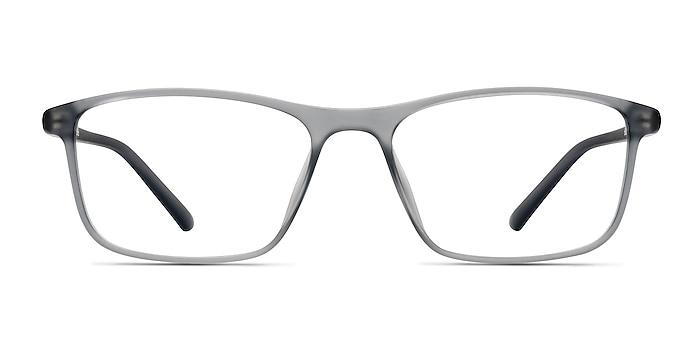 Wyoming Matte Gray Plastic Eyeglass Frames from EyeBuyDirect