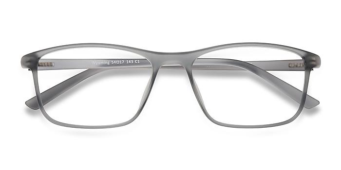 Matte Gray Wyoming -  Lightweight Plastic Eyeglasses