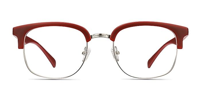 Yokote Matte Burgundy Plastic-metal Eyeglass Frames from EyeBuyDirect