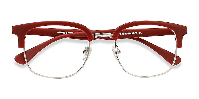 Matte Burgundy Yokote -  Plastic, Metal Eyeglasses