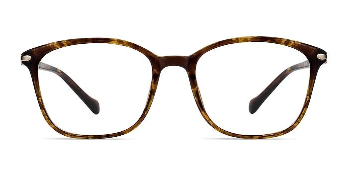 Nola Marron Plastique Montures de lunettes de vue d'EyeBuyDirect