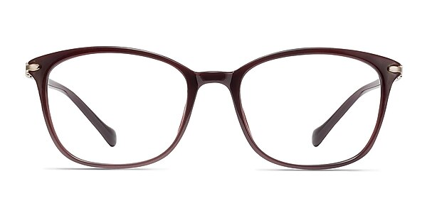 Nola Dark Red Plastic Eyeglass Frames
