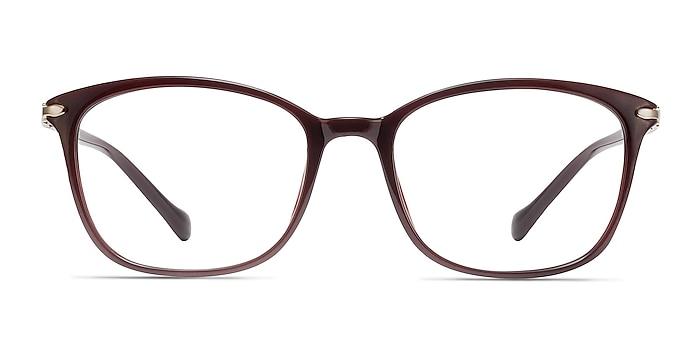 Nola Dark Red Plastic Eyeglass Frames from EyeBuyDirect