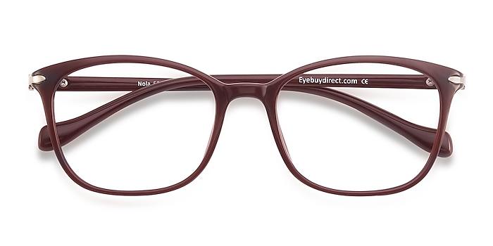 Dark Red Nola -  Lightweight Plastic Eyeglasses