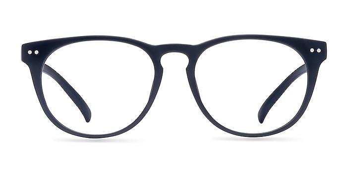 Brick Lane Matte Navy Plastic Eyeglass Frames from EyeBuyDirect