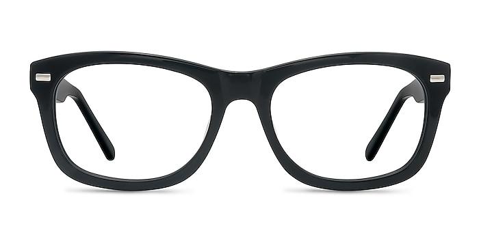 Cage  Black  Acetate Eyeglass Frames from EyeBuyDirect