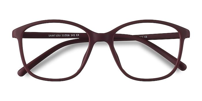 Burgundy Saint Lou -  Lightweight Plastic Eyeglasses