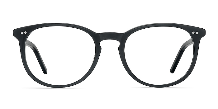 Aura Jet Black Acétate Montures de lunettes de vue d'EyeBuyDirect