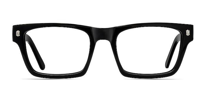 Mike Noir Acétate Montures de lunettes de vue d'EyeBuyDirect