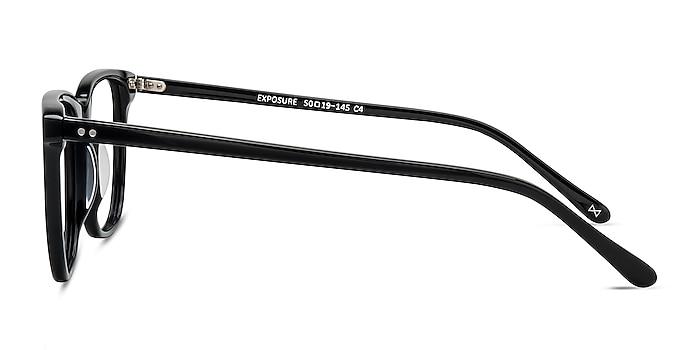 Exposure Jet Black Acetate Eyeglass Frames from EyeBuyDirect