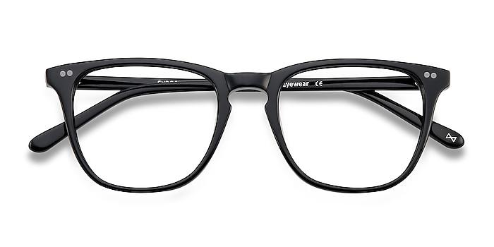 Jet Black Exposure -  Vintage Acetate Eyeglasses