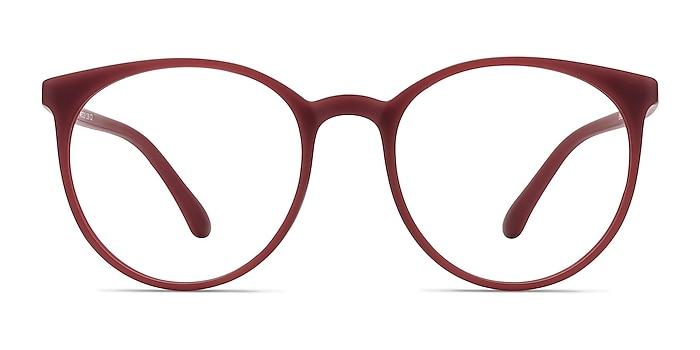 Portrait Matte Red Plastique Montures de lunettes de vue d'EyeBuyDirect