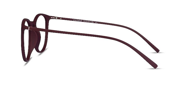 Dialogue Aubergine Plastic Eyeglass Frames from EyeBuyDirect