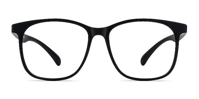 Character Matte Black Plastic Eyeglass Frames from EyeBuyDirect