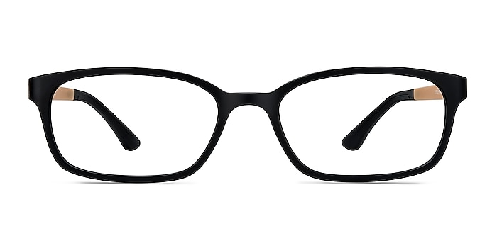 Clover Black & Apricot Plastic Eyeglass Frames from EyeBuyDirect