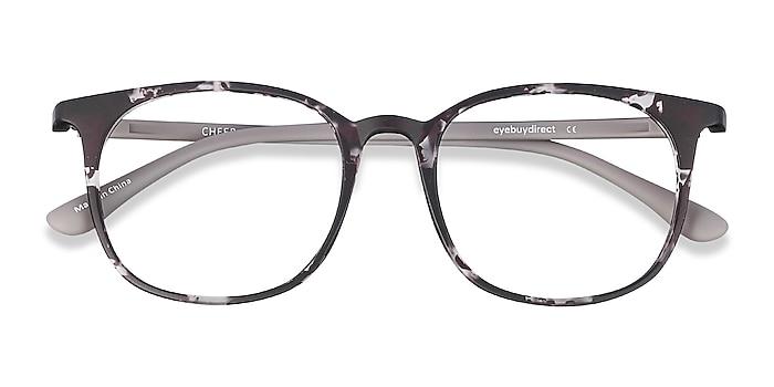 Swirled Gray Cheer -  Plastic Eyeglasses