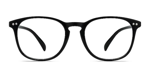 Record Black Plastic Eyeglass Frames