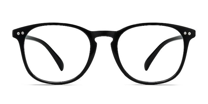 Record Black Plastic Eyeglass Frames from EyeBuyDirect