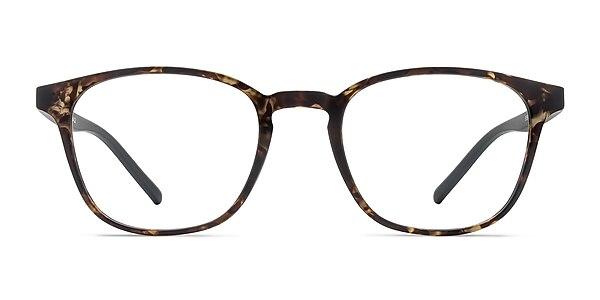 Saunter Swirled Amber Plastic Eyeglass Frames