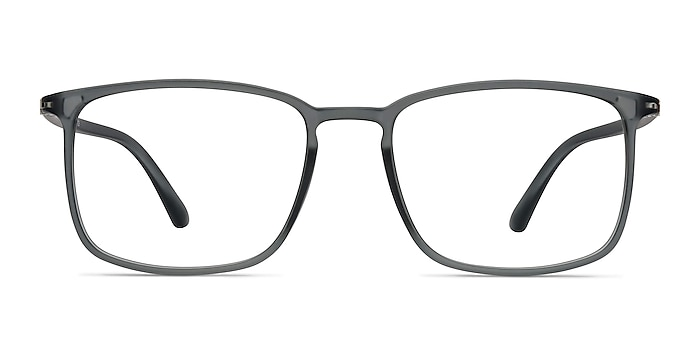 Structure Clear Gray Plastic Eyeglass Frames from EyeBuyDirect