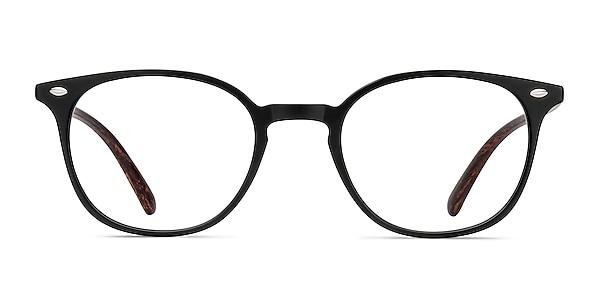 Hubris Matte Black Plastic Eyeglass Frames