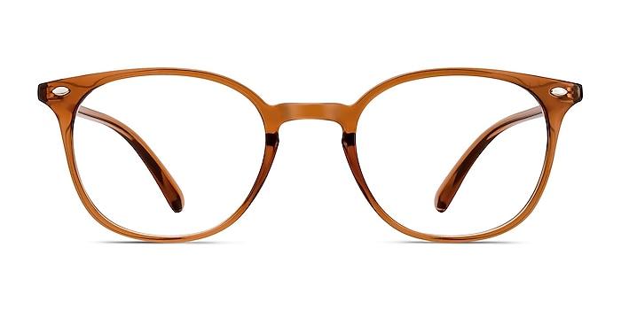 Hubris Clear Copper Plastic Eyeglass Frames from EyeBuyDirect