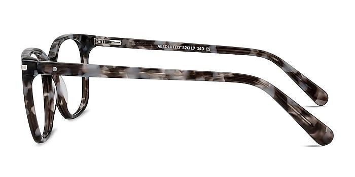 Absolutely Gray Floral Acétate Montures de lunettes de vue d'EyeBuyDirect