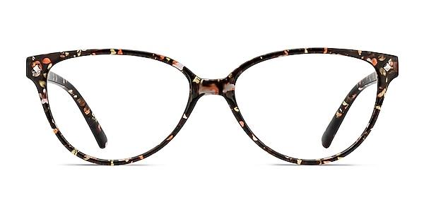 Dame Floral Plastic Eyeglass Frames
