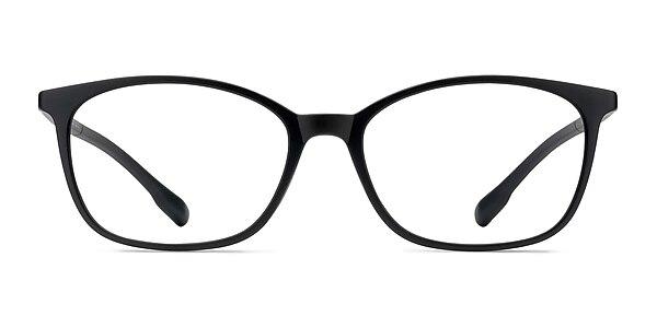 Glider Black Plastic Eyeglass Frames
