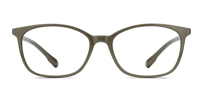 Glider Olive Green Plastic Eyeglass Frames from EyeBuyDirect