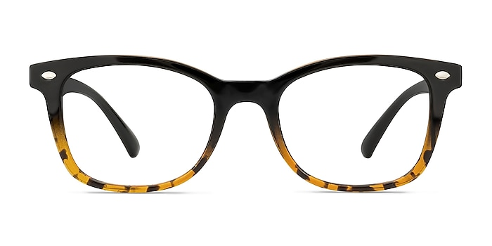 Drama Black Brown Plastic Eyeglass Frames from EyeBuyDirect