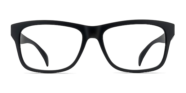 Gamble Matte Black Plastic Eyeglass Frames