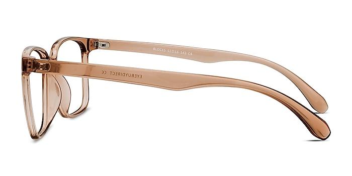 Blocks Clear Brown Plastique Montures de lunettes de vue d'EyeBuyDirect