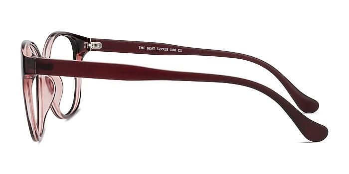 The Beat Burgundy Plastique Montures de lunettes de vue d'EyeBuyDirect
