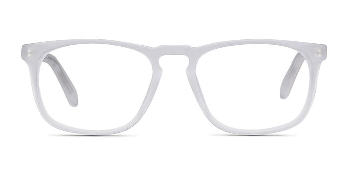 Rhode Island Matte Clear Acétate Montures de lunettes de vue d'EyeBuyDirect