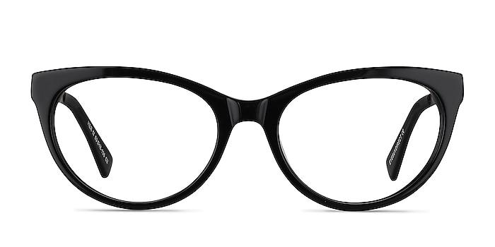 Her Black Acetate-metal Eyeglass Frames from EyeBuyDirect