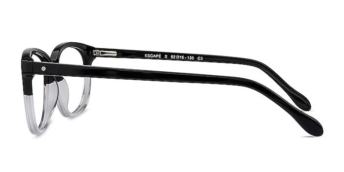 Escape Clear Black Acetate Eyeglass Frames from EyeBuyDirect