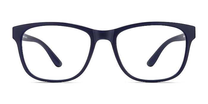 Milo Matte Navy Plastique Montures de lunettes de vue d'EyeBuyDirect