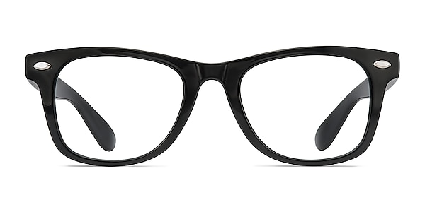 Atlee Black Plastic Eyeglass Frames